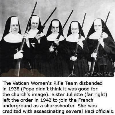 Vatican Women s rifle team