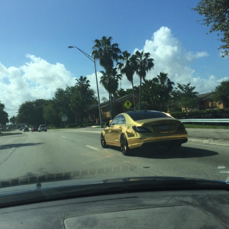 Gold Mercedes
