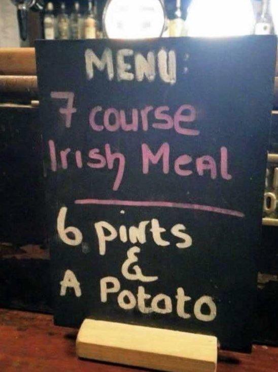 Irish7CourseMeal