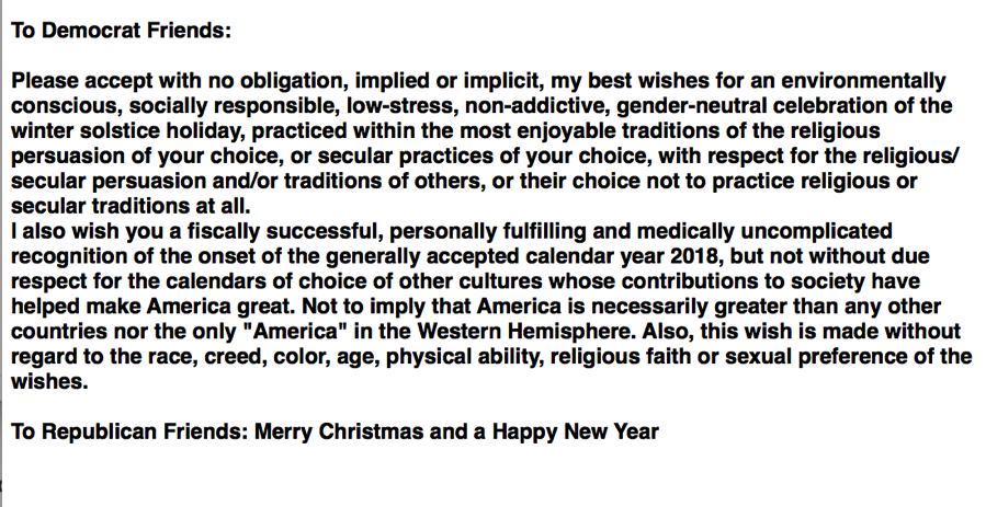 DemocratRepublican XmasGreeting