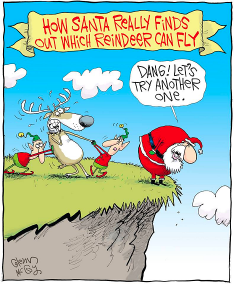 SantaTestingReindeer