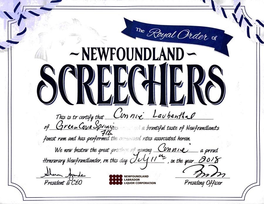 20180711 Newfoundland Screechers Cert