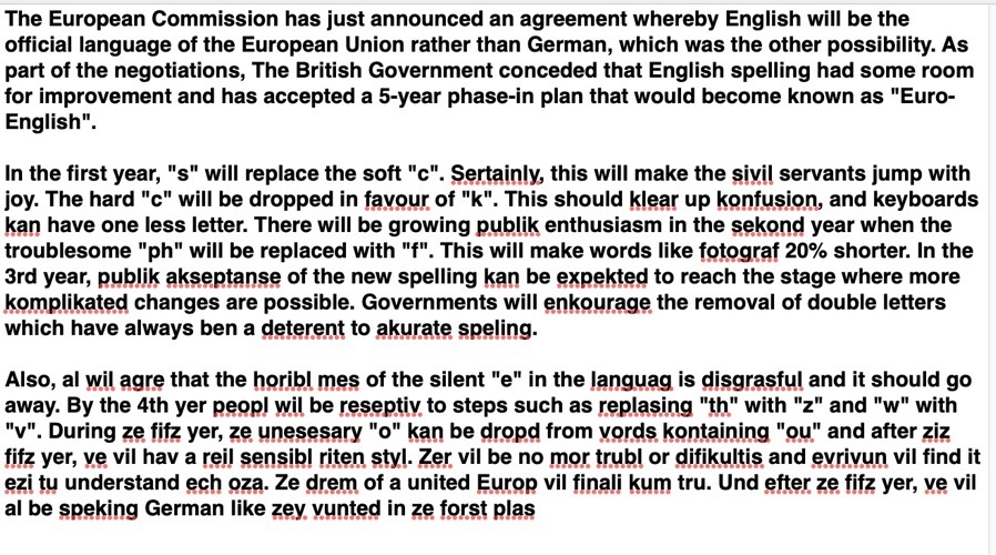European English