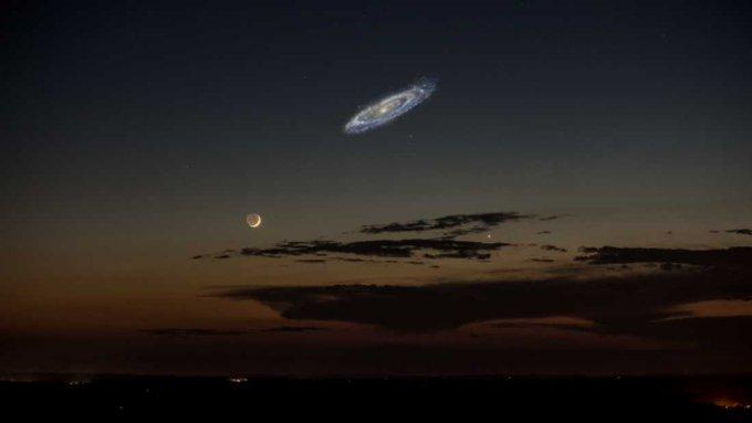 AndromedaGalaxyAndMoon